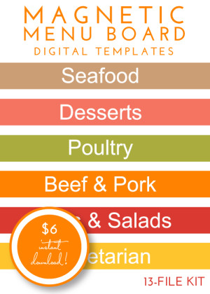 Magnetic Menu Board Kit - Citrus