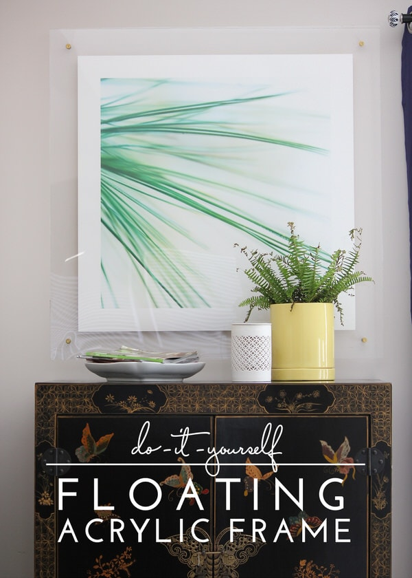 diy floating acrylic frame