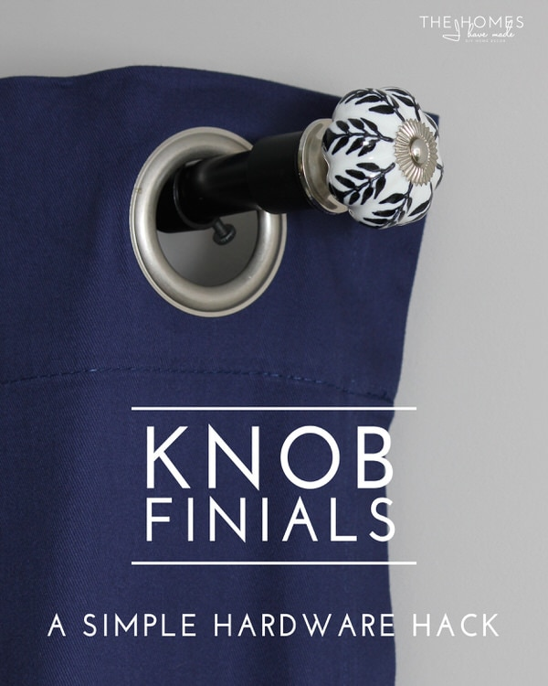 Knob Finials | A Simple Hardware Hack