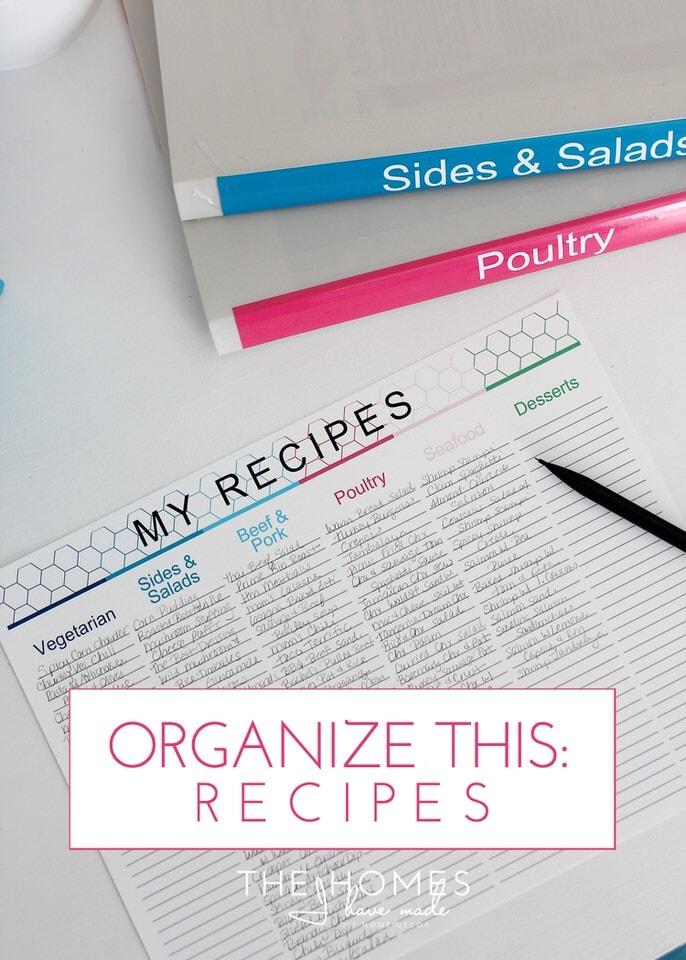 Organize This: Recipes