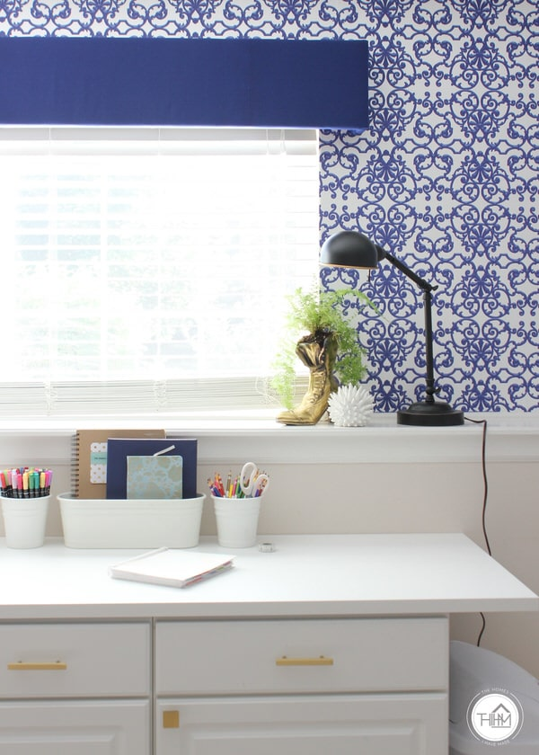 Cobalt & White Studio Office