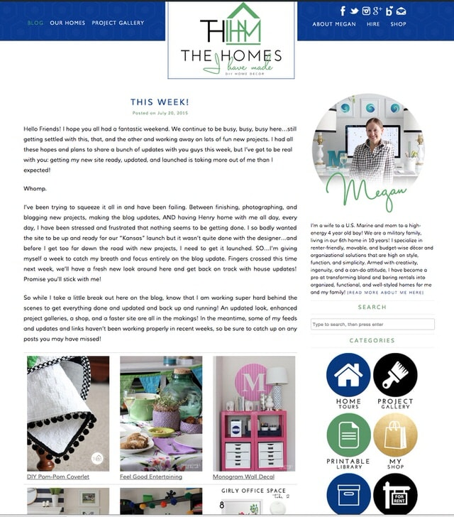 The Homes I Have Made Main Page