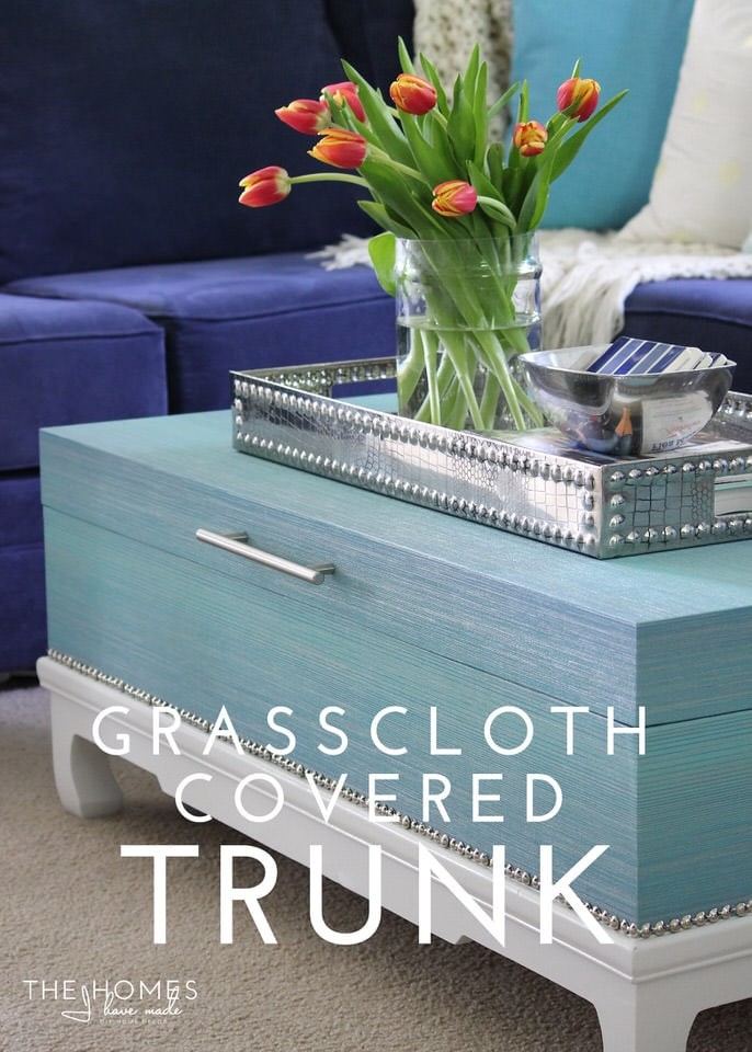 Grasscloth Covered Trunk