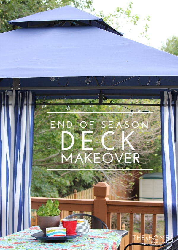 End of Season Deck Makeover