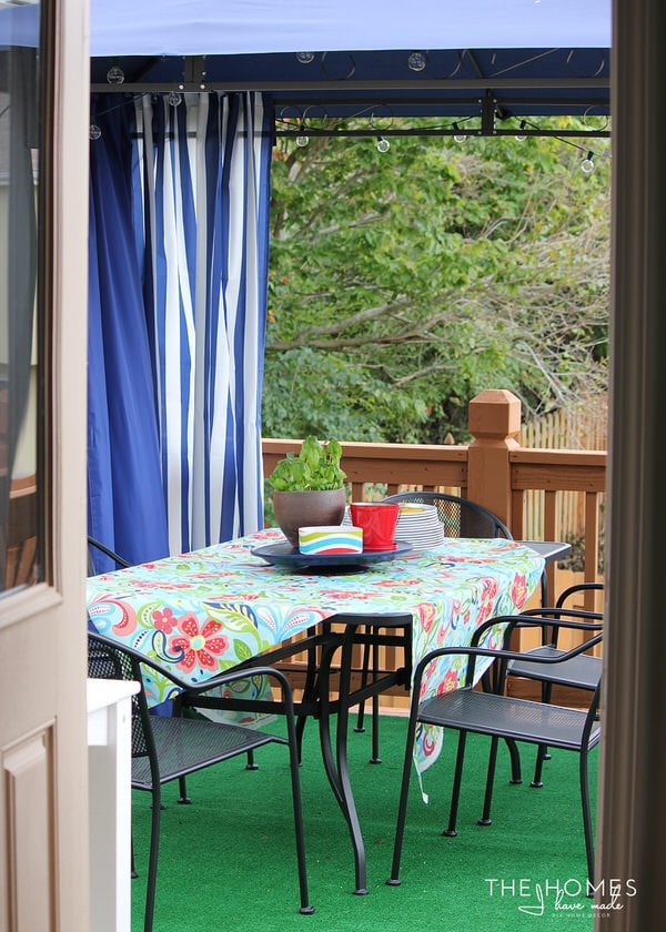 Preppy Deck Makeover