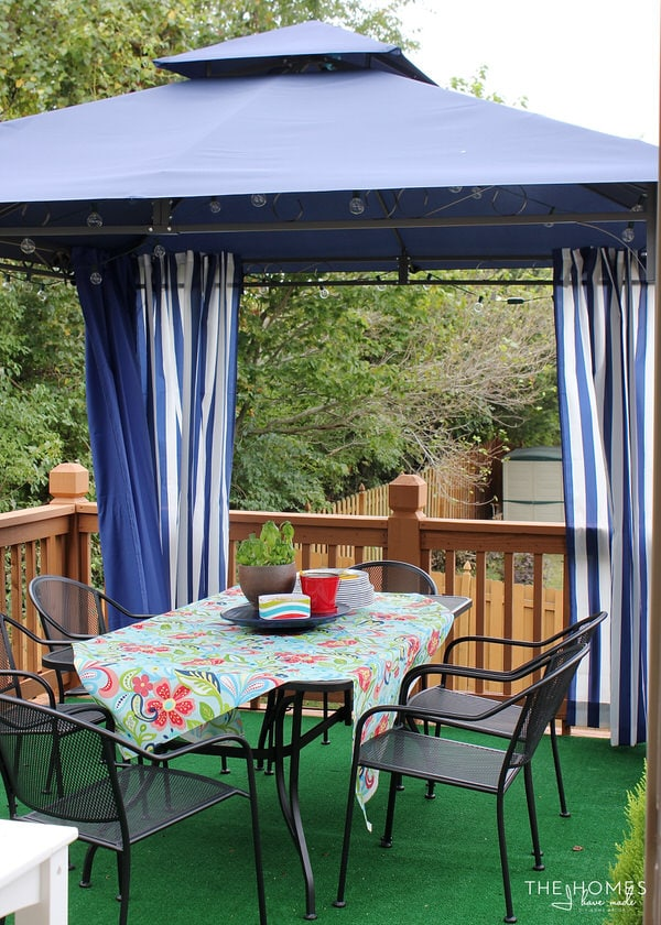Pretty & Preppy Deck Makeover