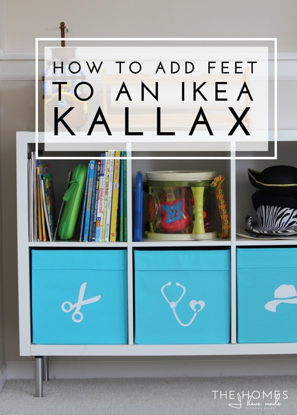 How to add feet to an ikea kallax the homes i have made