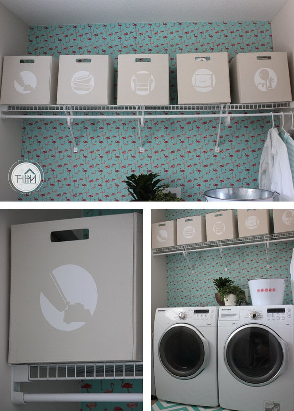 Picture-Labeled Laundry Bins