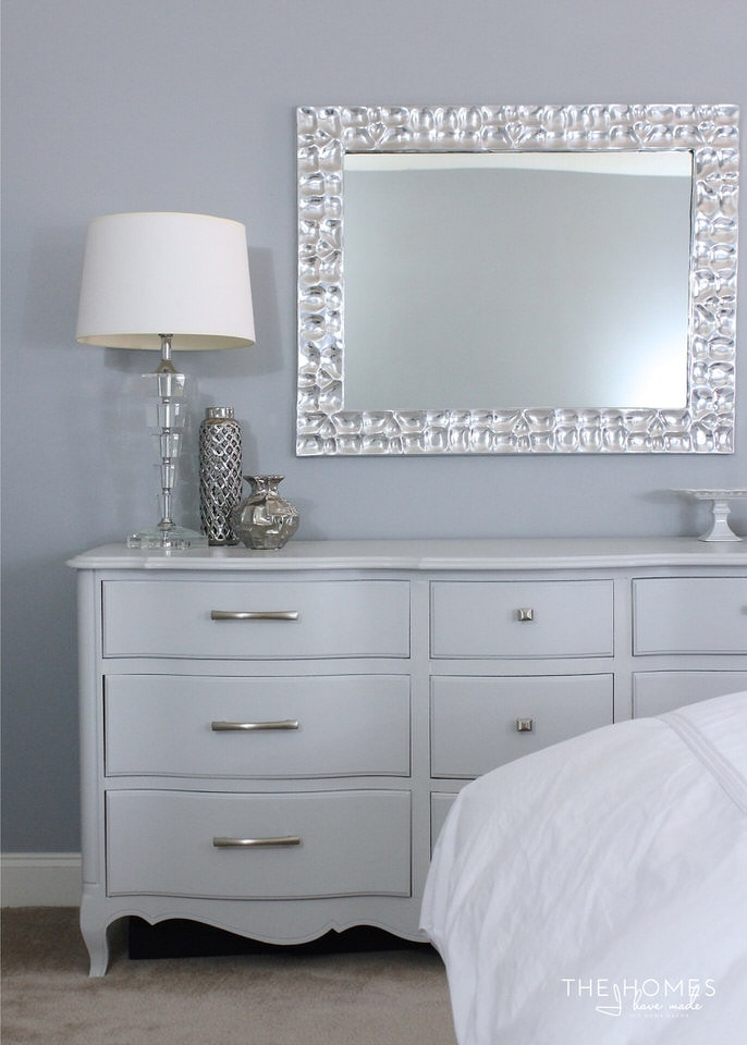 Modern Grey French Provincial Dresser