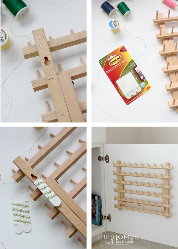 How to hang thread organizer