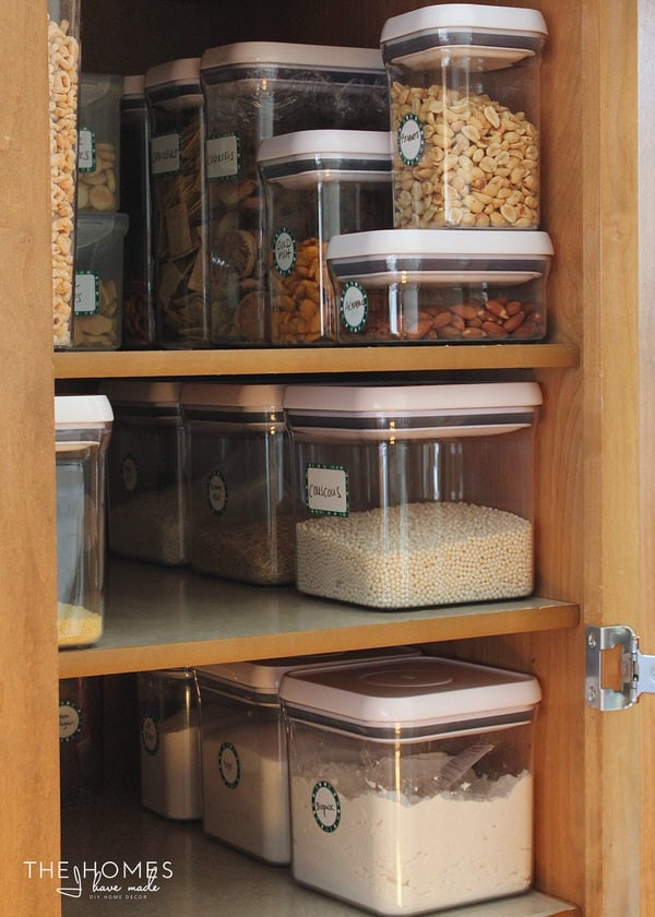 Write-On Labels on pantry containers