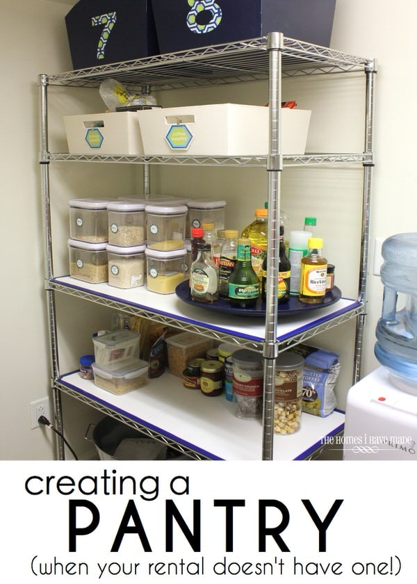 Creating a Pantry When Your Rental Doesn't Have One