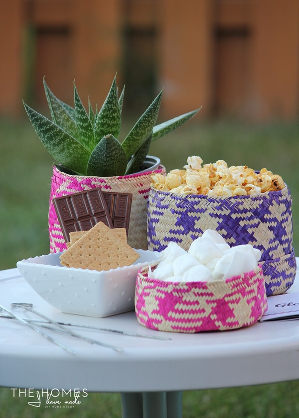 S'Mores Station with GlobeIn Baskets