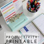 Productivity Printable (and a Mini Printable Blog Hop!)