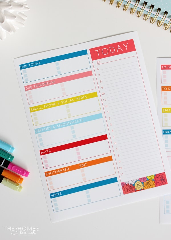 Blogger's Productivity Printable
