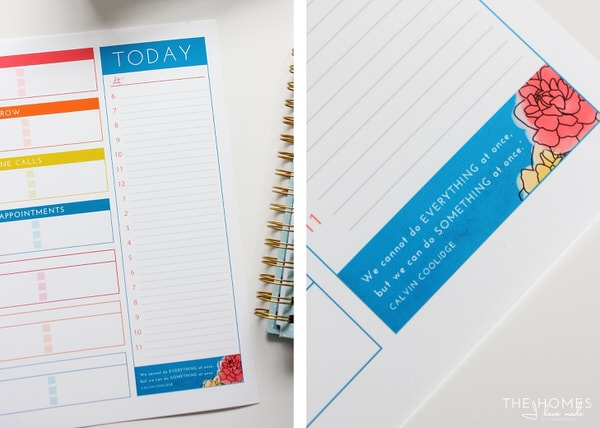 Productivity Printable Daily Schedule