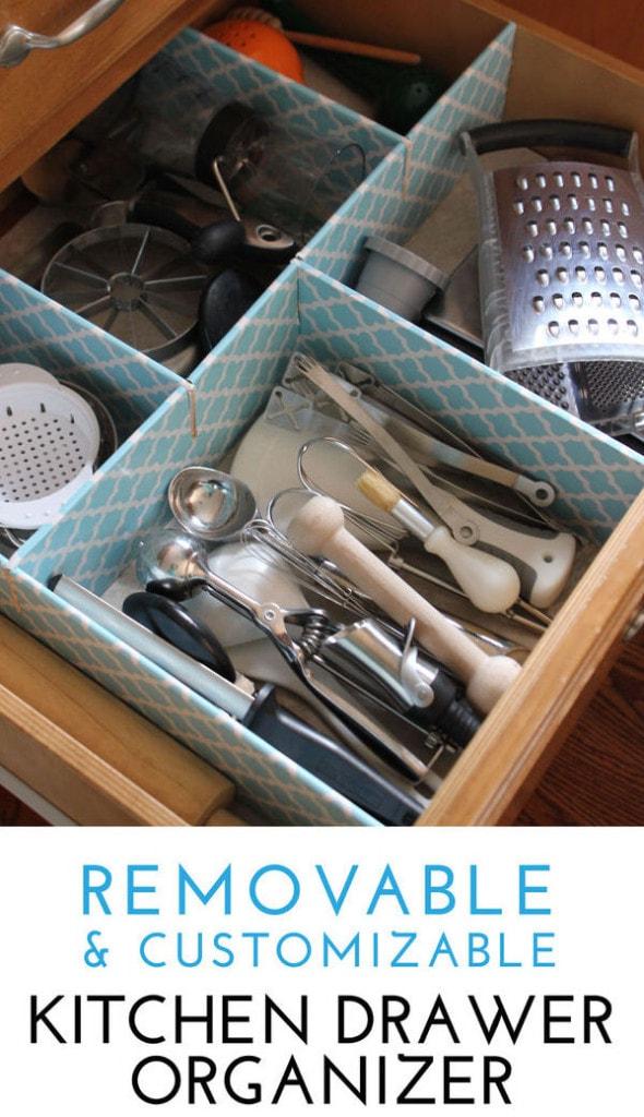 Removable & Customizable Kitchen Drawer Organizer