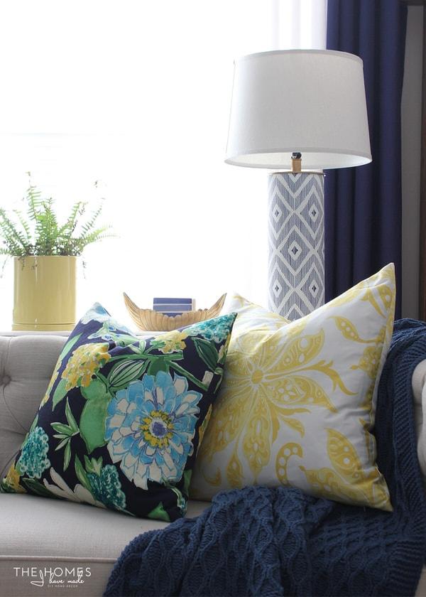 Pretty floral pillows