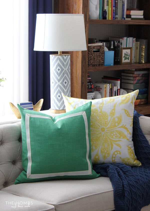 No-Sew Ribbon Pillow