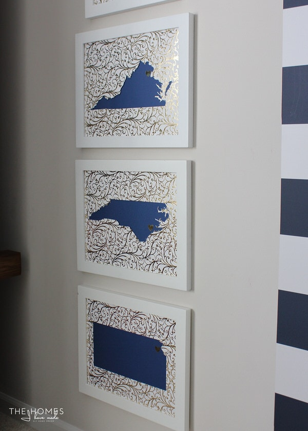 DIY State Silhouette Artwork