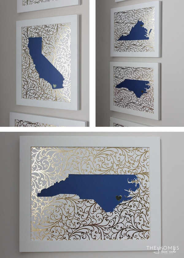 DIY State Silhouette Artwork