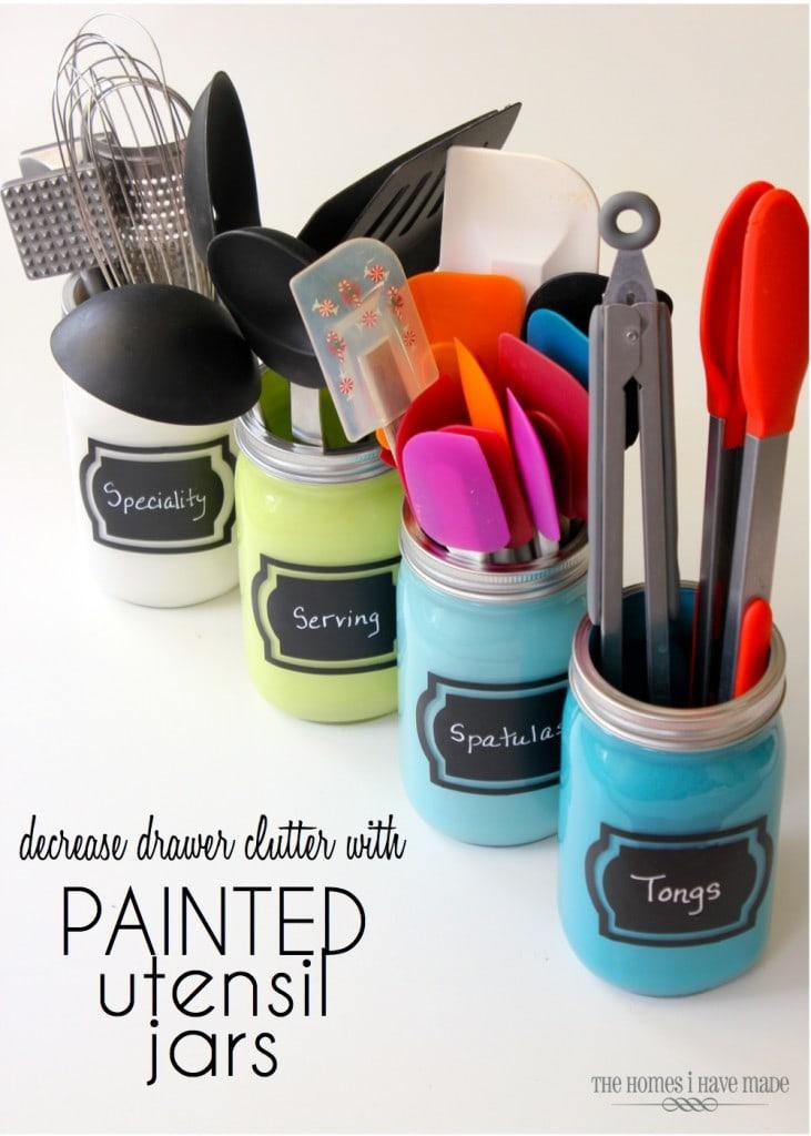 Painted Utensil Jars