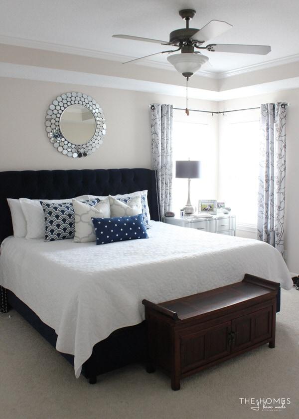 Navy And Grey Bedroom : Kelli Arena