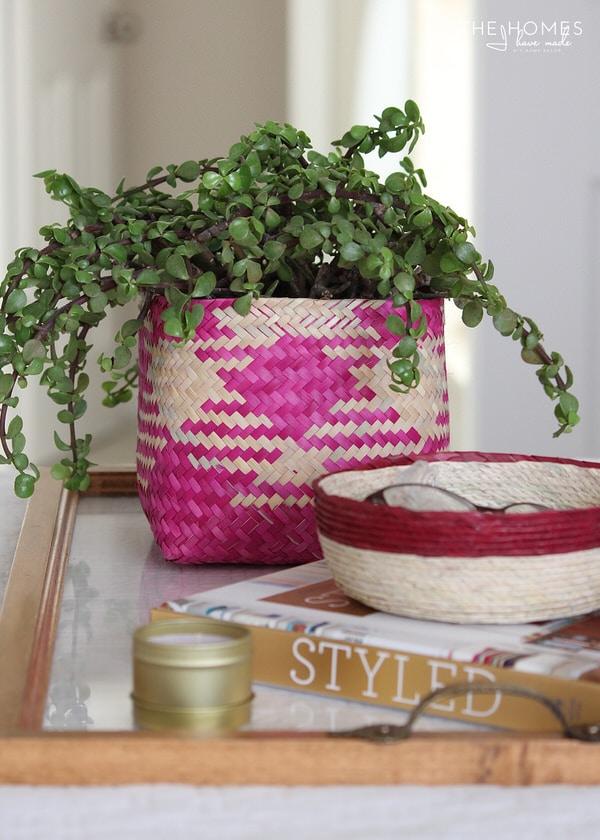 GlobeIn Palm Leaf Basket
