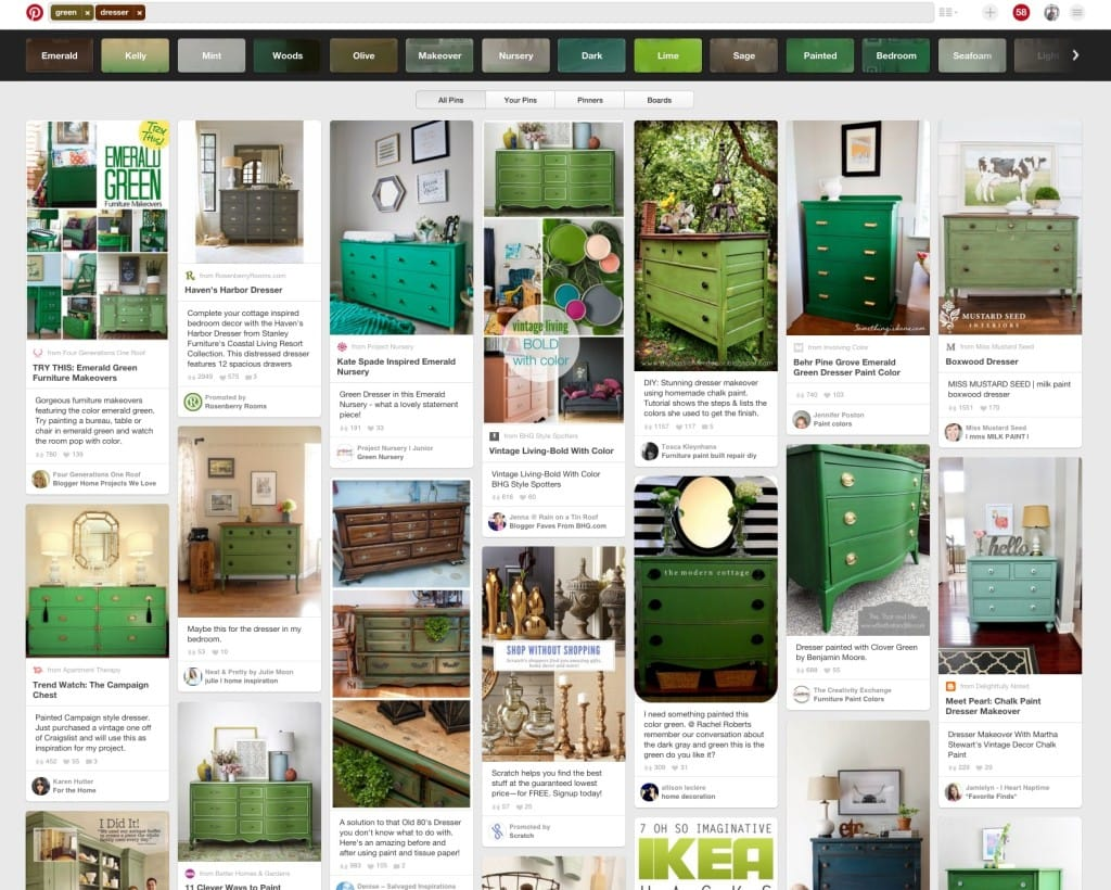 Green Dressers on Pinterest