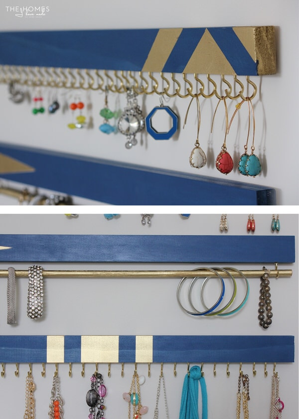 DIY Jewelry Organizers | Earrings & Bracelets
