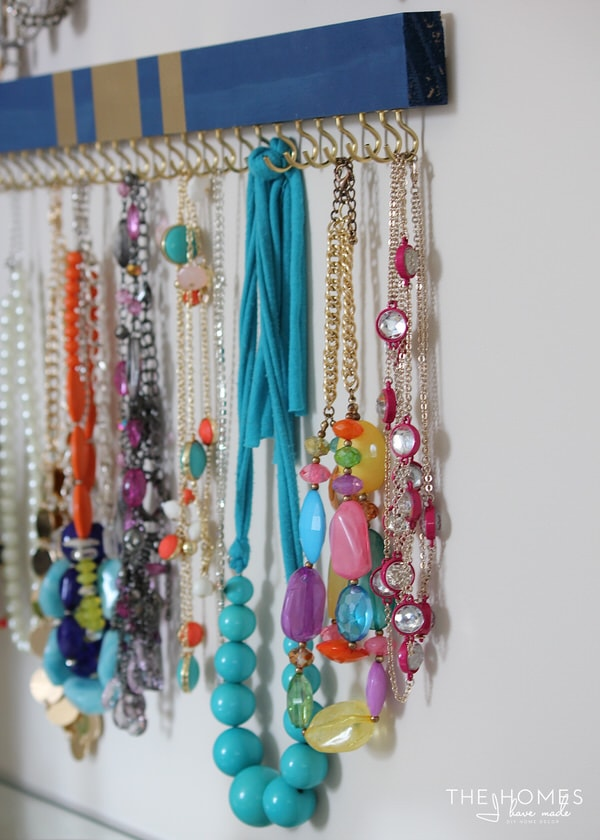 DIY Jewelry Organizers | Necklace Hooks