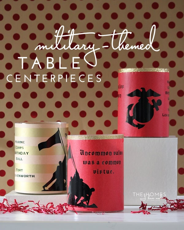 Military Ball Decorations Fascinating Easy Military Table Centerpieces  The Homes I Have Made Inspiration Design
