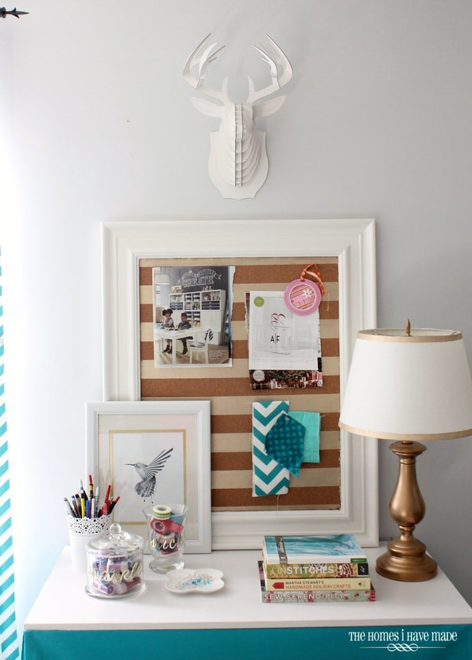 Gold Striped Bulletin Board