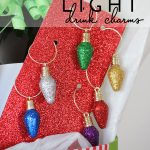 DIY Christmas Light Drink Charms