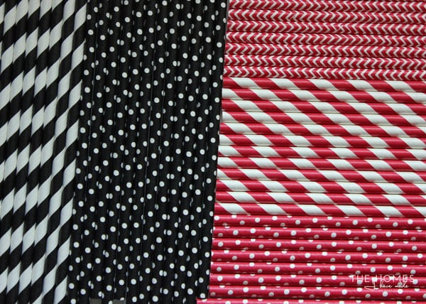 Holiday Paper Straws