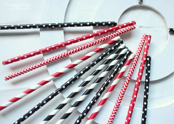Paper Straw Wreath Tutorial