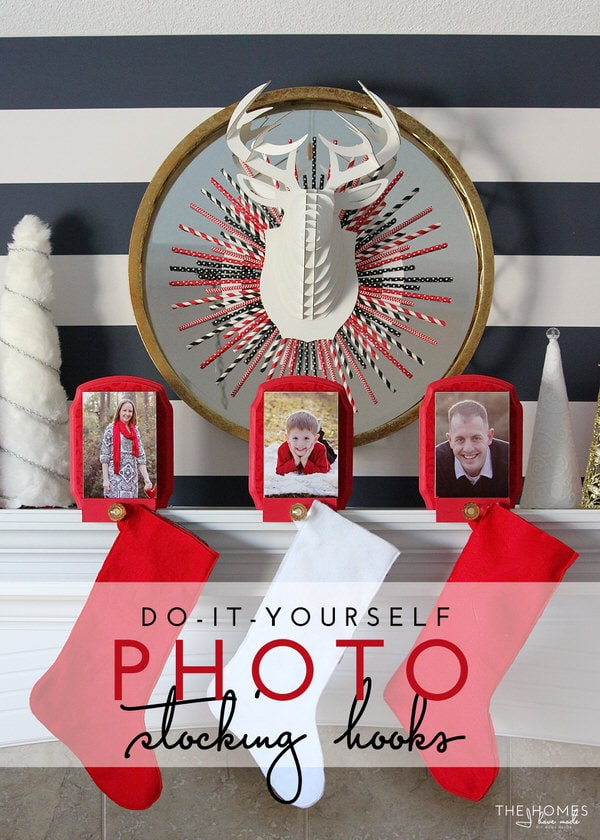 DIY Photo Stocking Hooks | A Fun and Creative Way to Hang your Christmas Stockings!