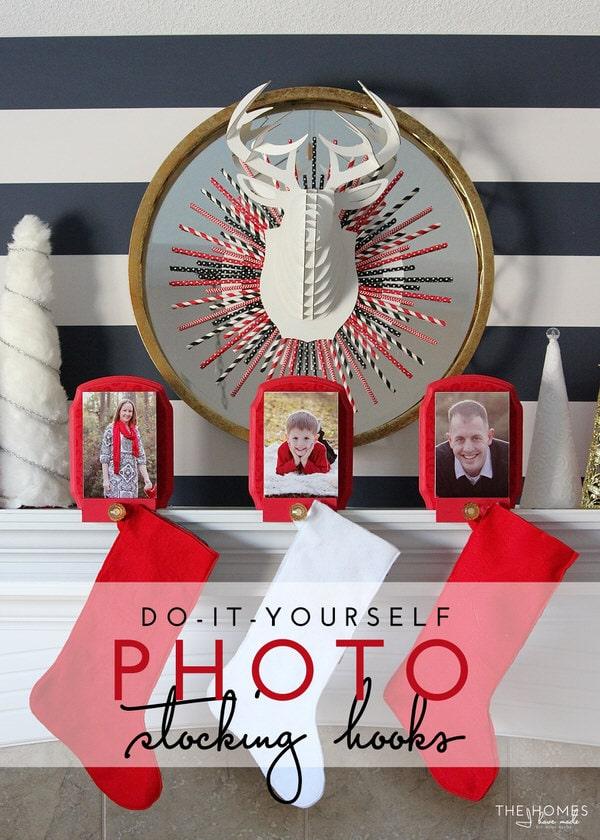 DIY Photo Stocking Hooks | A Fun and Creative Way to Hang your Christmas Stockings!
