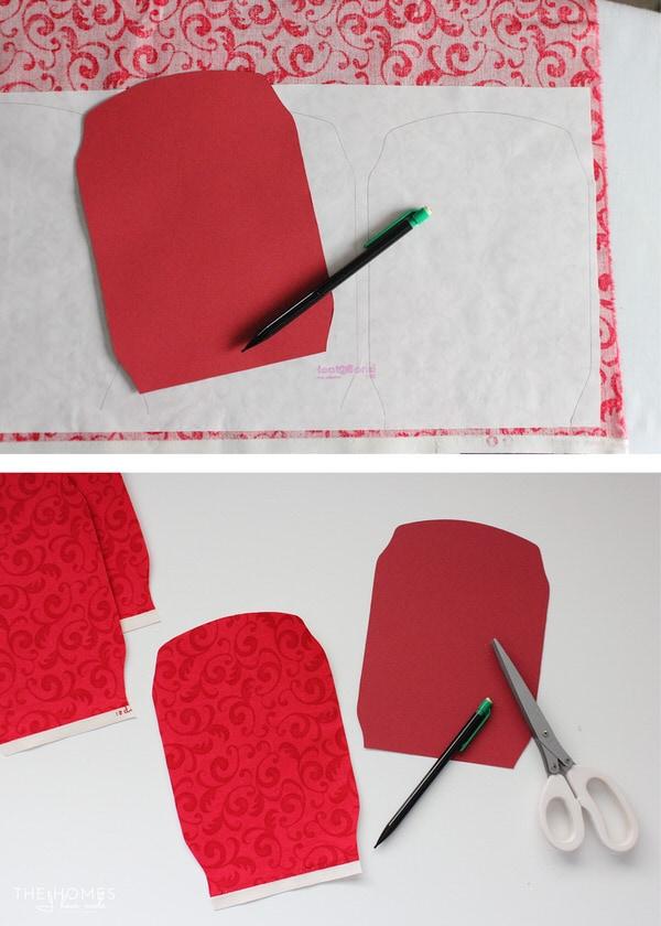 Photo Stocking Hooks | Cut Fabric