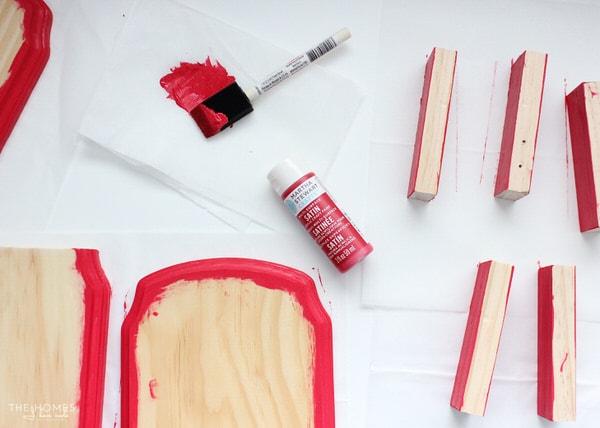 Photo Stocking Hooks | Paint Wood