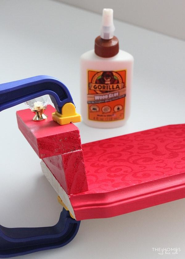 Photo Stocking Hooks | Glue Wood Ledge