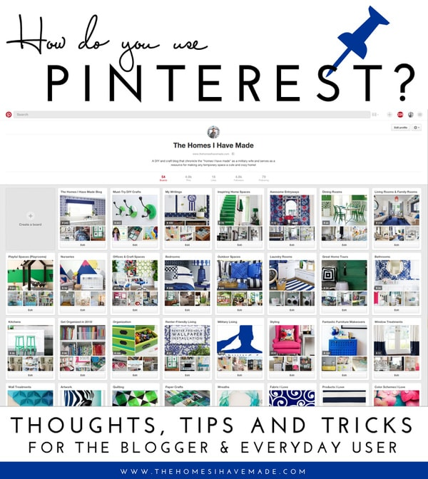 Thoughts, Tips & Tricks on Pinterest for the Blogger and Everyday User