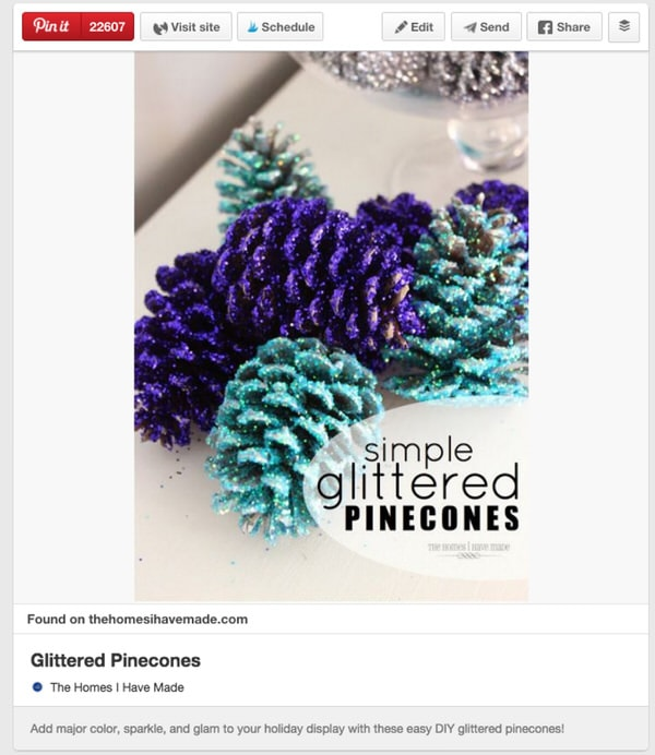 Glittered Pincones Pin