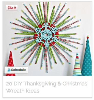20 DIY Thanksgiving & Christmas Wreaths