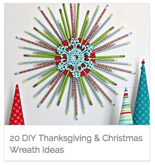 20 DIY Thanksgiving & Christmas Wreath Ideas
