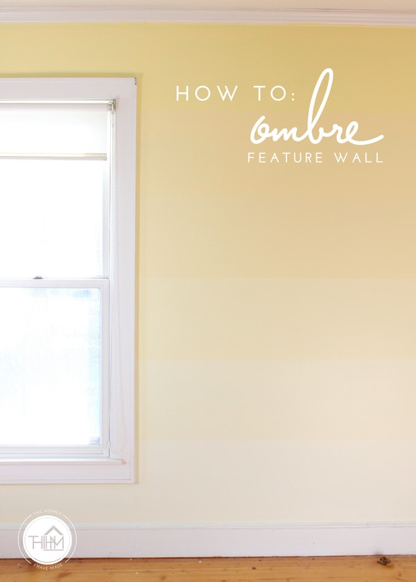 DIY Yellow Ombre Feature Wall