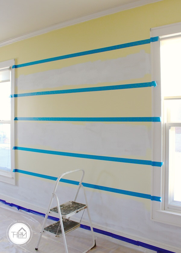 DIY Ombre Feature Wall Tutorial