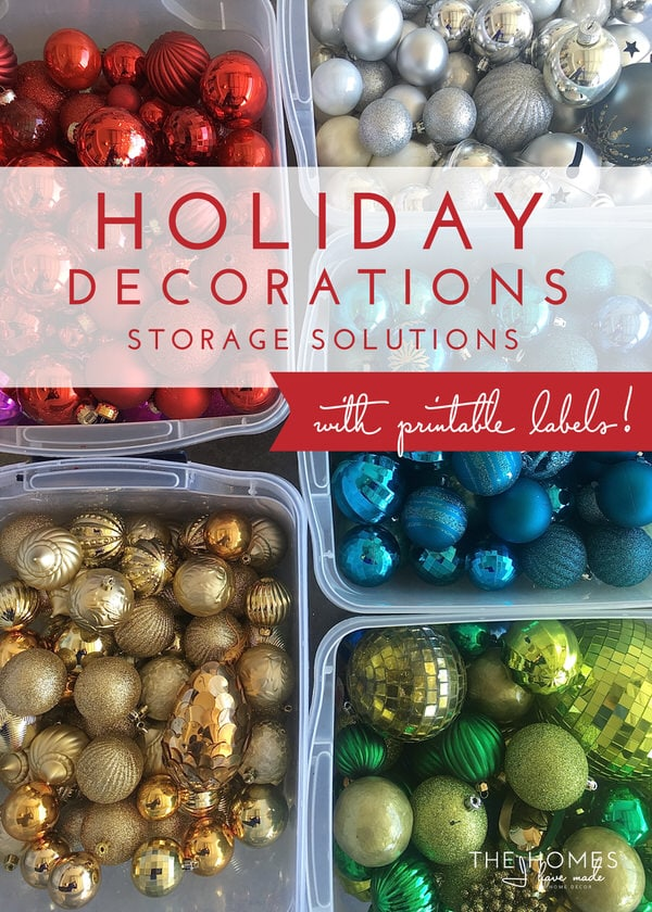 Holiday Decorations Storage Solutions (with FREE printable!)