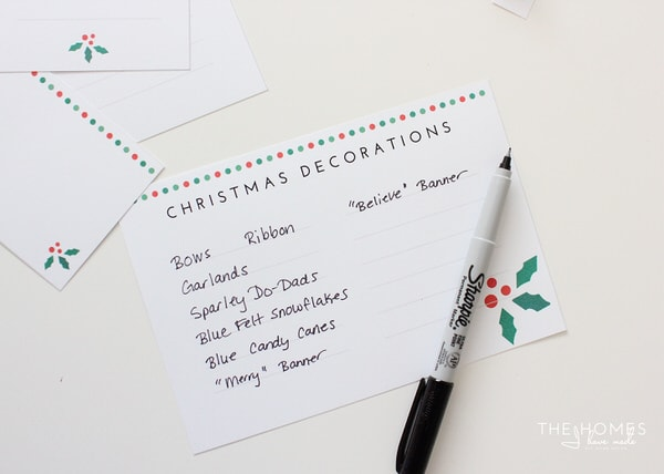 Printable Christmas Decorations Labels
