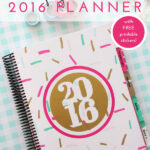 A Tour of My 2016 Planner (with FREE Printable Planner Stickers!)